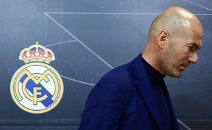 Zinedine Zidane quitte le Real Madrid après avoir annoncé son départ en conférence de presse, le 31 mai 2018.
