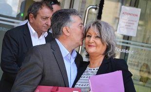 Robert et Dominique Navarro, mardi, lors d'une suspension d'audience.