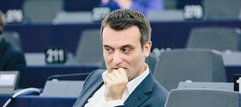 Florian Philippot au Parlement européen, le 13 juin 2018.