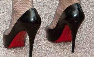 Une paire de chaussures Louboutin.