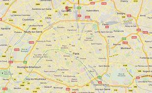 Google Maps de Saint-Ouen (Seine-Saint-Denis).