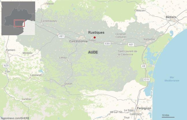 La commune de Rustiques dans l'Aude.