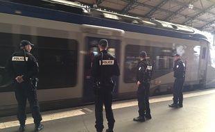 La brigade des chemins de fer de Toulouse, en gare Matabiau.