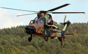 Un hélicoptère de combat Tigre. Illustration.