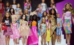 Exposition de poupées Barbie à New York, le 20 février 2018.