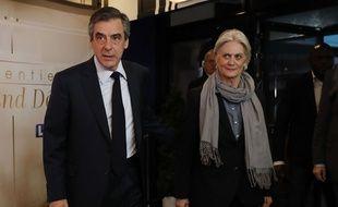 François Fillon et son épouse Penelope Fillon, le 20 mars 2017.