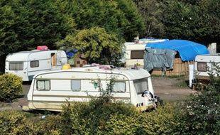 Un camp de rom en octobre 2013 près de Roubaix