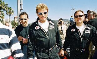 Johnny Hallyday et son beau-père, André Boudou partageaient la passion de la moto.