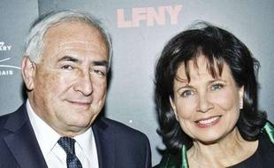Dominique  Strauss-Kahn et Anne Sinclair, le 5 février 2011 à New York.