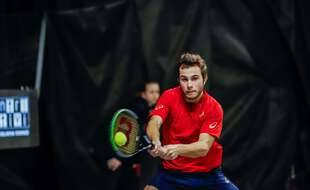 Hugo Gaston, lors du tournoi Challenger de Bergame, en Italie, le 22 février 2020.