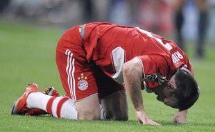 Le footballeur français, Franck Ribéry lors du match Bayern Munich - Barcelone, en Ligue des champions le 14 avril 2009.