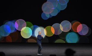Le patron d'Apple, Tim Cook.