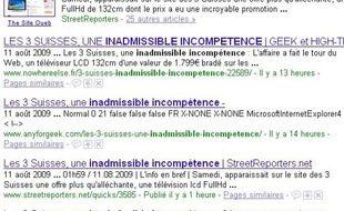 3Suisses victime de Google bombing