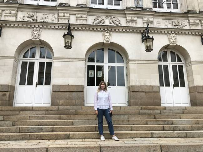 Emilie Bourdon, plus jeune conseillère municipale de Nantes.