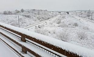 Plus de 10 cm de neige à Lille, le 23 janvier 2019.