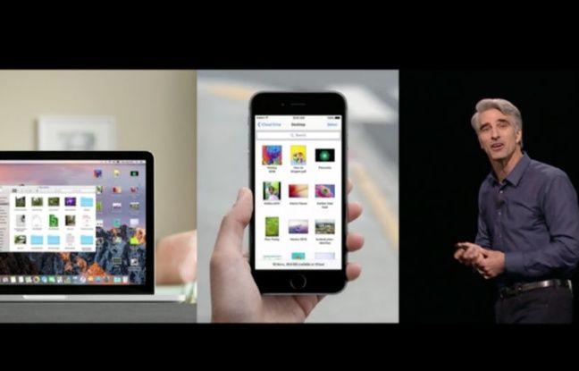 Avec le futur MacOS, on pourra retrouver le bureau de son Mac sur son écran l'iPhone.