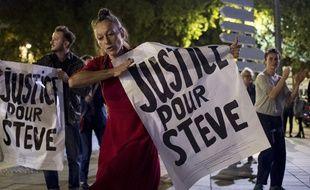 Manifestation réclamant une « justice pour Steve », le 12 septembre 2019.