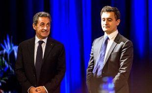 Nicolas Sarkozy et Gérald Darmanin en janvier 2015.