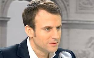 Emmanuel Macron sur BFMTV, le 18 février 2015.