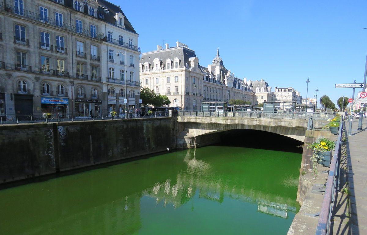 Lundi matin, la Vilaine était verte fluo en raison d'une action des agents de l'environnement. – J. Gicquel / APEI / 20 Minutes