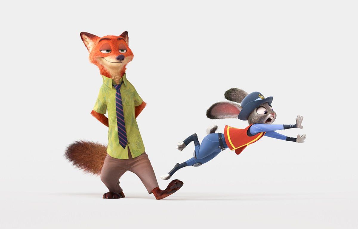 Nick et Judy, le deux héros de Zootopie – Walt Disney Studio