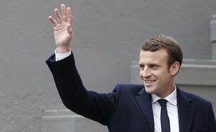 Emmanuel Macron, le 23 avril 2017 au Touquet.