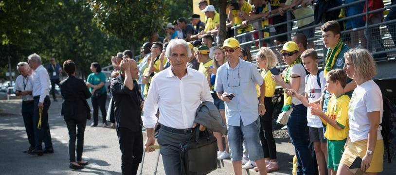 Vahid Halilhodzic a coaché le FC Nantes pour la dernière fois ce soir, lors d'un match amical.
