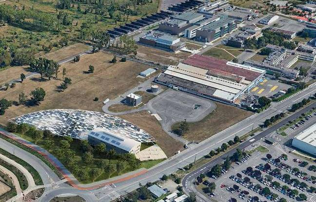 A l'entrée de l'Oncopôle de Toulouse, le bâtiment OMS va être transformée en Hub.