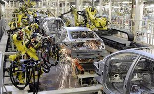 Une usine du constructeur automobile Nissan sur l'île de Kyushu, au Japon, en 2007.