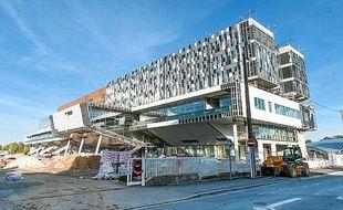 Le bâtiment Kedge en construction à Talence.