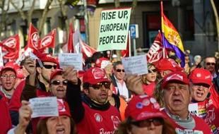 Manifestation contre les politiques d'austérité en Europe, le 3 avril 2014 à Madrid