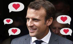 Emmanuel Macron déclenche des élans d'amour.
