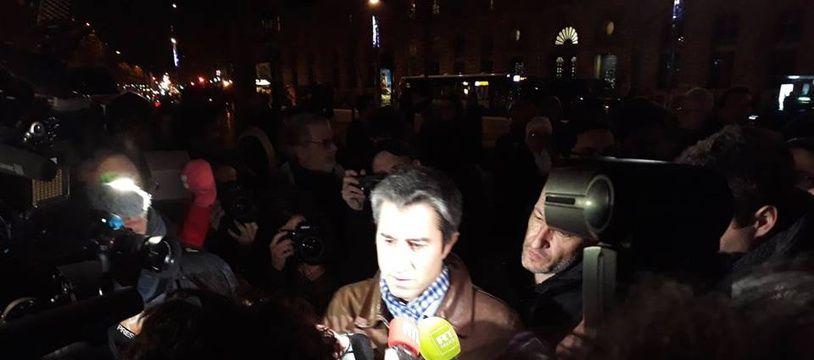 François Ruffin, place de la République ce jeudi soir