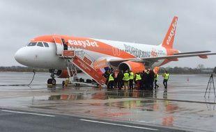 Un avion de la compagnie Easyjet à Bordeaux.