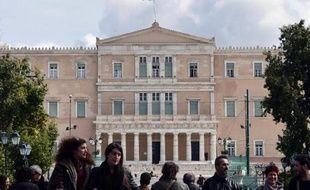 Le Parlement grec à Athènes, le 6 mars 2015