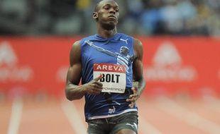 Usain Bolt lors du meeting Areva, en juillet 2011