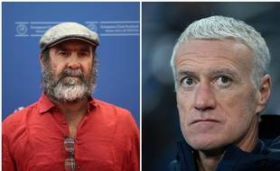 Eric Cantona et Didier Deschamps