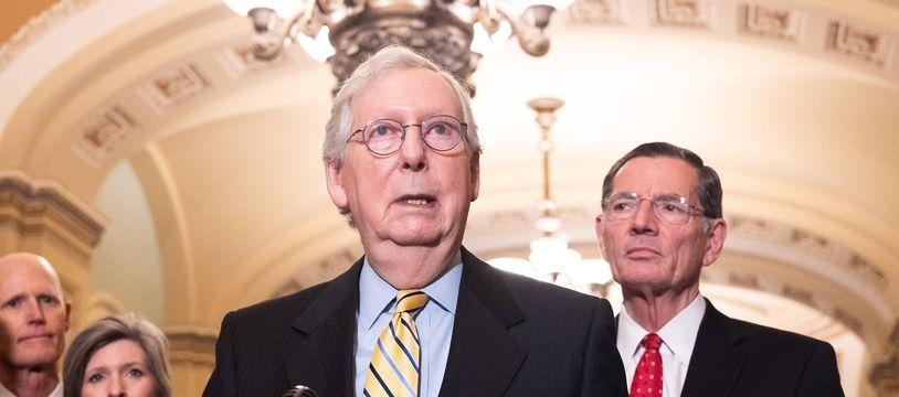 Le chef des républicains américains au Sénat, Mitch McConnell, le 22 juin 2021.