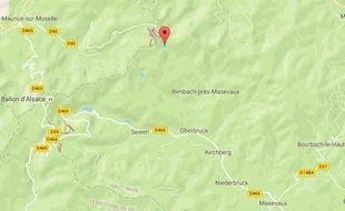 Lac des perches (Vosges). Google maps