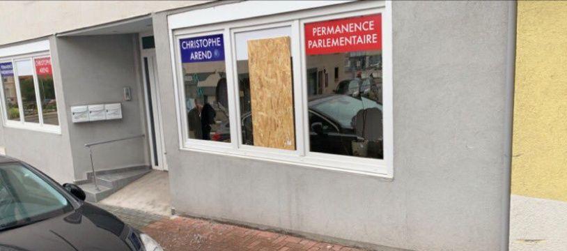 La permanence de Christophe Arend encore vandalisée.