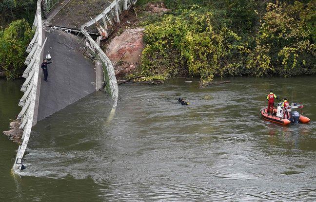 Haute-Garonne : Mirepoix-sur-Tarn «sous le choc» après l'effondrement du pont suspendu