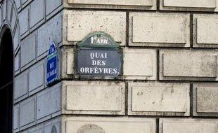 """L'entrée du """"36 quai des Orfèvres"""" siège de la PJ le 6 février 2015 à Paris"""