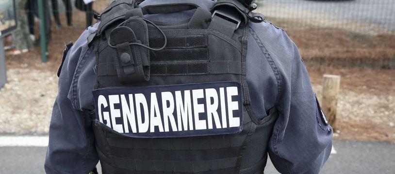 Un gendarme, illustration.