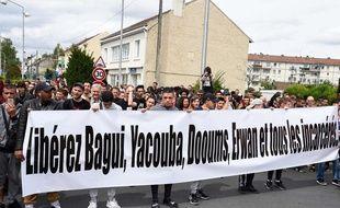 (Archives) Lors d'une manifestation de soutien à  Bagui Traore, entre autres