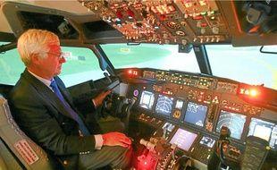 Une centaine de pilotes du monde entier pourrait venir se former sur l'un des simulateurs (ici, le Boeing 737).