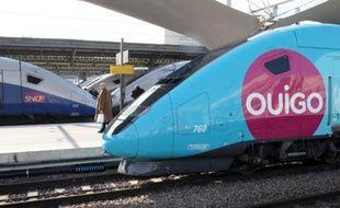 Un TGV Ouigo à la Gare de Lyon, à Paris, le 19 février 2013