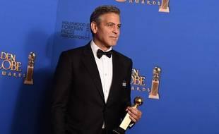 George Clooney aux Golden Globes 2015, où il a reçu un prix pour l'ensemble de sa carrière.