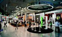 La future zone commerciale du Hall D de l'aéroport Toulouse-Blagnac.