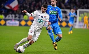 Houssem Aouar a été l'unique buteur de cet OL-OM, ce mercredi en quart de finale de la Coupe de France.
