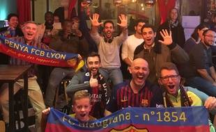 Les supporters du Barça à Lyon se retrouvent souvent au TechNoir pour regarder les principaux matchs de leur équipe favorite.